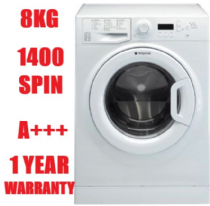 HOTPOINT WMBF844P White 8KG Washing Machine 1400rpm